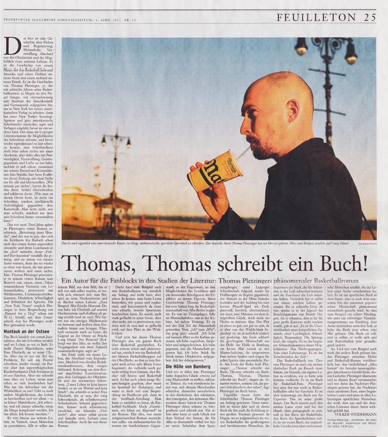 Frankfurter Allgemeine Sonntagszeitung, April 2012